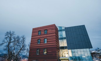 Energy 1 installed the exterior piping for the geothermal heating system on Montana State University's new Jabs Hall for the university's College of Business and Entrepreneurship. | Photo by Derik Olsen