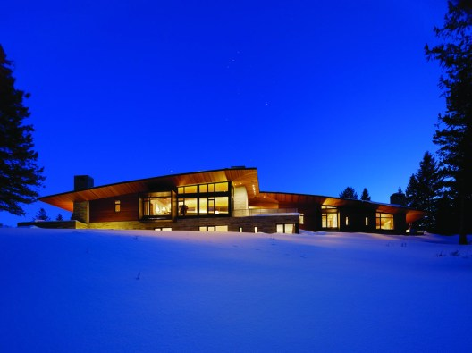 A warm site amid the snowy Jackson, Wyoming, landscape.