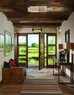 The home's doors were commissioned and built by Wood River Veneer, located in Bozeman.