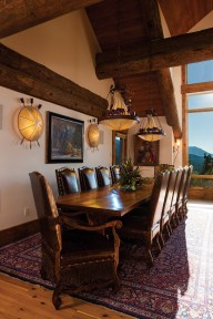 The dining room table built by Ron Hart Woodworking is fit for a feast.