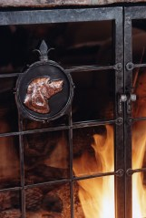 Glenn Gilmore's fireplace screens reflect the interests and affections of his clients.