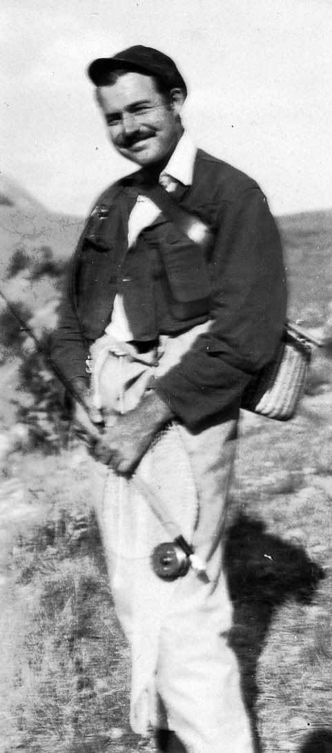 Ernest Hemingway in Wyoming, 1928. He fell in love with the land. Photo by JFK Library