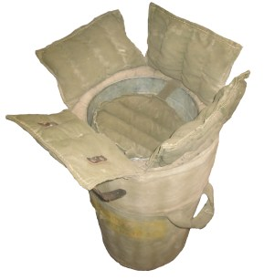 A closer look at the fish bags rangers used to transport trout.