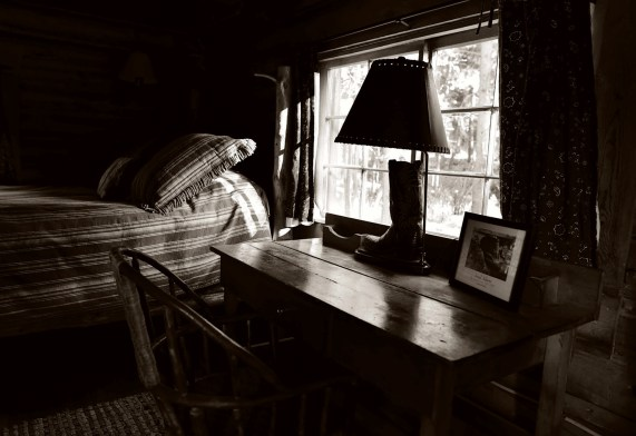 Hemingway holed up in a rustic log cabin at Spear-O to finish A Farewell to Arms while Pauline fished with the guides. Photo by Travis Cebula