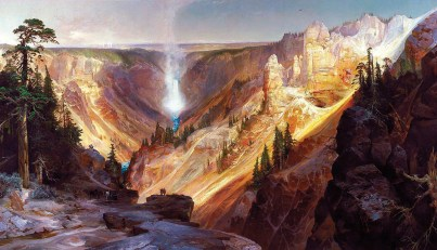 """Lower Falls of the Yellowstone"" Thomas Moran 