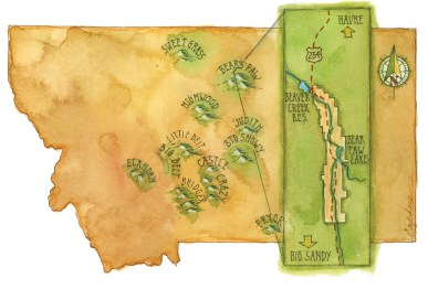 Map by Daphne Gillam (Detail)