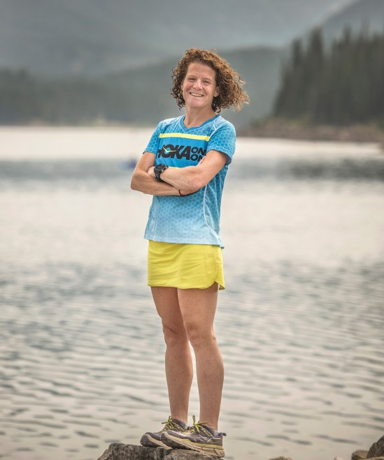 Ultrarunner Nikki Kimball trains in Hyalite Canyon for an upcoming 100-mile race.