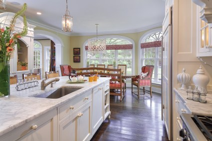 Open kitchens need to reflect the overall style of the home, like this one designed by Erika & Company. Photo courtesy Erika & Company