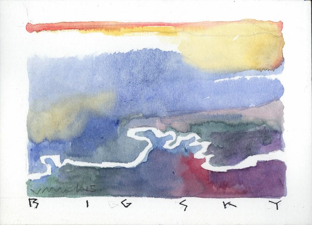 Original watercolor postcards by Jack Unruh.