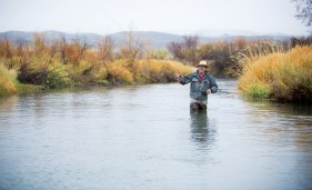 Rock Ringling, one of three managing directors of the Montana Land Reliance, fishes on the Ruby River. Since its founding in 1978, the Land Reliance has conserved over 958,000 acres of Montana in more than 820 voluntary easement agreements.