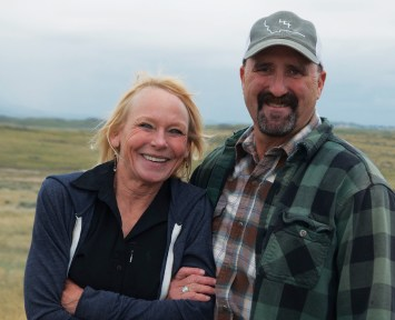 Deb and Mike Delaney work in partnership to run their extensive Black Angus cow-calf operation in the vast sagebrush and grasslands of Montana, east of Lewistown, near the tiny town of Winnett. | Photo by Deborah Richie