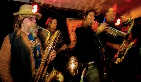 Peter plays baritone sax with the band Zeppo at the Union Club in Missoula. When not repairing or selling instruments, Peter plays with the local band he founded in 2007.