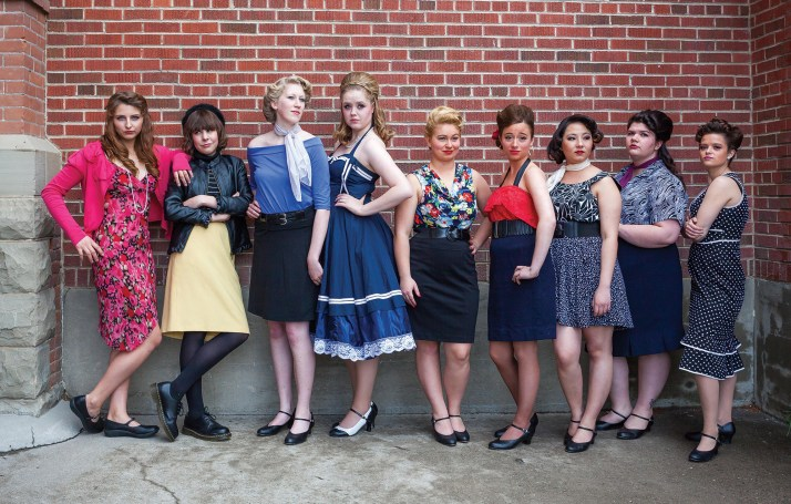 """The female cast members of """"West Side Story."""""""