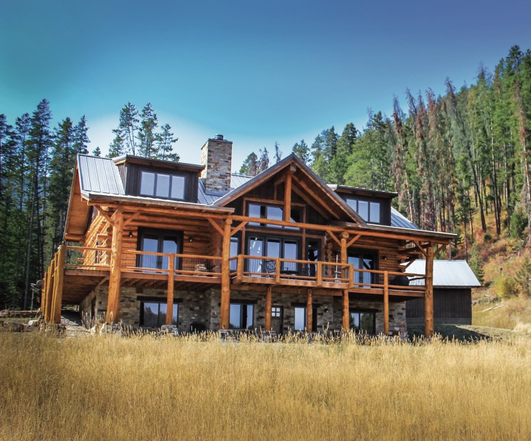 Log homes require regular maintenance to prevent the elements from destroying the integrity of the structure. Photo courtesy BTI Log Home Care