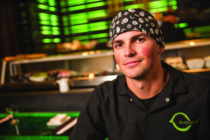 Dustin Rasnick, the general manager, head chef and part-owner of Sudachi in Wilson, Wyom.