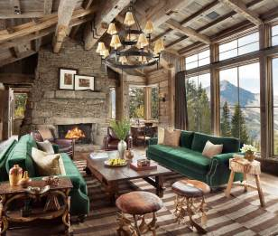 Given the emphasis on natural building materials and the large windows, the view of Big Sky's Lone Peak comes to feel almost like an organic aspect of the home's décor.