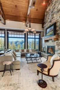 """""""I designed a more modern aesthetic in the furniture [to balance] the Montana aspect of the architectural features,"""" said Bing."""