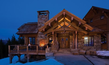 A welcoming front entry is a hallmark of mountain-style homes.