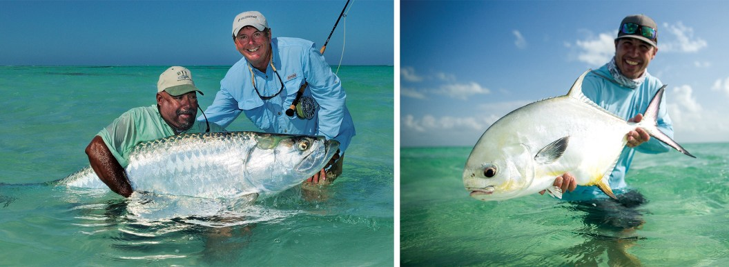 Hug that tarpon! Barry Beck and guide By Cathy Beck | Permit grip and grin — How big was your smile holding your first permit? By Brett Seng