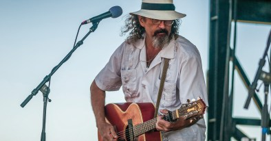 James McMurtry on stage playing his own brand of rock and roll.