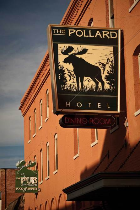 Built in 1893, the meticulously restored Pollard Hotel is at the core of the town's historic preservation efforts.
