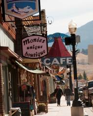 Downtown Red Lodge architecture and businesses offer a glimpse into history with buildings dating back to the late 1800s.