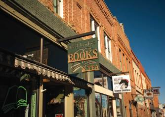 One of many diverse businesses on Broadway is Red Lodge Books & Tea, where literary titles and luscious flavors meet.
