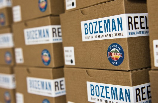 Made In Montana: RS Series reels await delivery at Bozeman Reel.