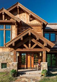 Interior designer Laney Hensel worked with a local craftsman to create the stunning, custom entry door.