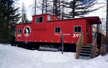 Kids and adults have a blast in the caboose cabins at the Izaak Walton Inn.