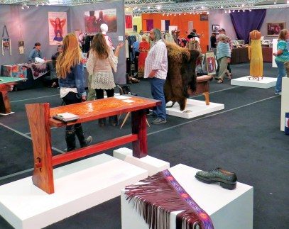 Retail Row, at the Western Design Conference, is where artisans display their latest designs