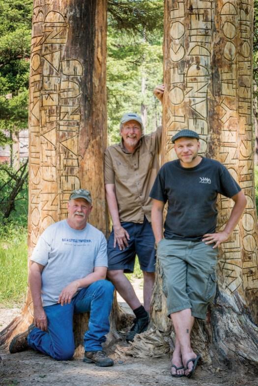 "Rick Dunkerley, Kevin O'Dwyer, and artist Brandon Ballengée at ""A Gateway of Change."""