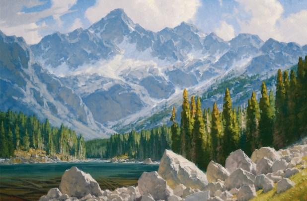 """Charles Fritz   """"Sunlight Over Granite Peak"""""""