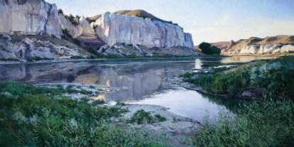 """Josh Elliott   """"White Cliffs at Eagle Creek, Missouri River"""" (detail)"""