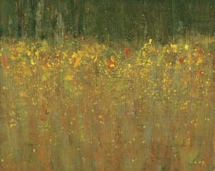 """Raining Leaves at Oxbow Bend"" | Lee Riddell | Oil on Linen | 8"" x 10"""