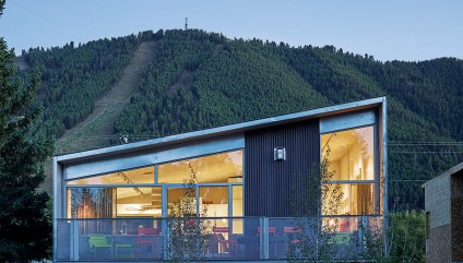 The Riddell's contemporary home/studio beneath Snow King Mountain.