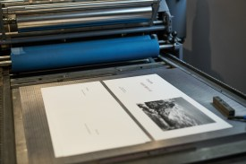 Ed's restored 1950's vintage letterpress.