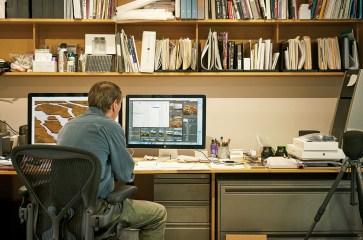 Ed at his digital workstation.