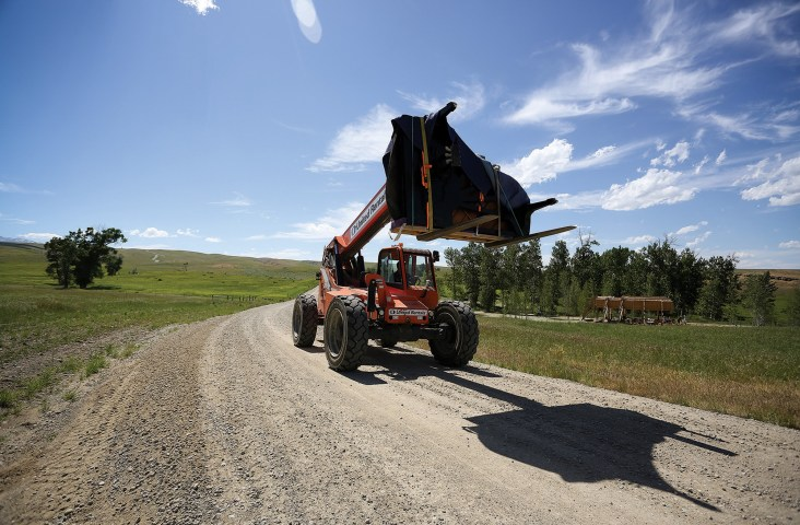 Musical performances take place at various locations throughout Tippet Rise. Pianos are moved accordingly, and then tuned on location.