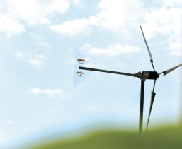 A wind turbine provides electricity for the house. Photo courtesy of Royce Gorsuch