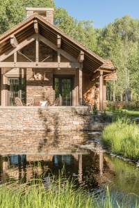 The outdoor spaces were oriented toward the sun, but also focused on the water features.