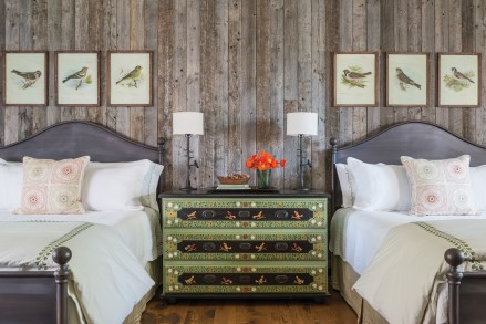Aside from the beds, much of the furniture Hayes found for the interior is antique, with some newer pieces mixed in along with artwork from local galleries.