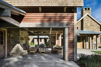 Locati Architects principal Greg Dennee relied on a variety of rooflines, materials and connection to the surrounding landscape to reduce the visual volume of this Montana home.