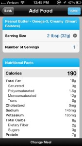 1 Serving of Smart Balance with Omega 3's
