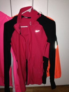 This is a Nike Zip Up I got last year for Christmas- It is a little long for me, but it is a great running hoodie, it keeps me really warm, and I can always put a shell on outside of it