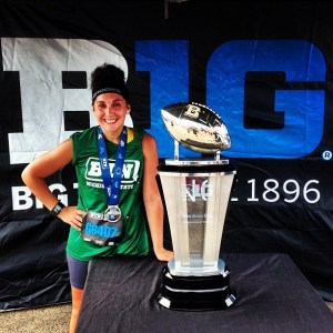 Big Ten 10k.  The point when I really saw my times improving