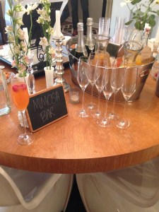 There was a mimosa bar.
