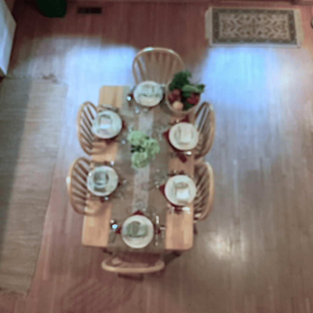 View of eating table from Loft