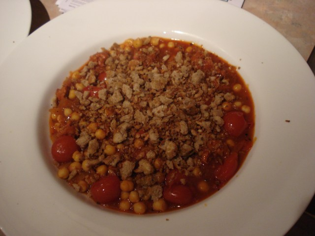 spiced chorizo and chickpea stew
