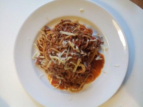 spaghetti bolognese elveden forest style